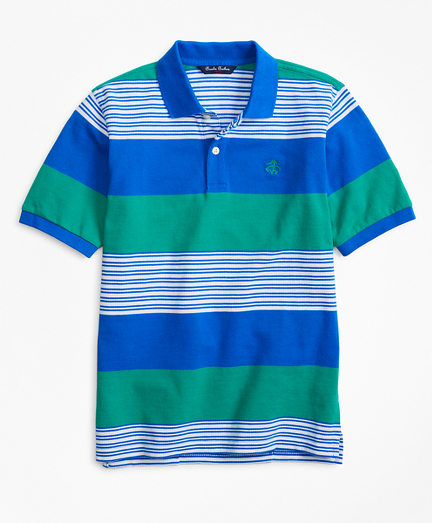 Rugby Stripe Pique Polo