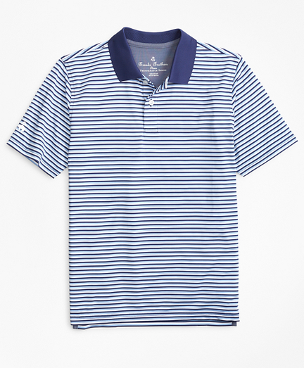 Performance Feeder Stripe Polo Shirt
