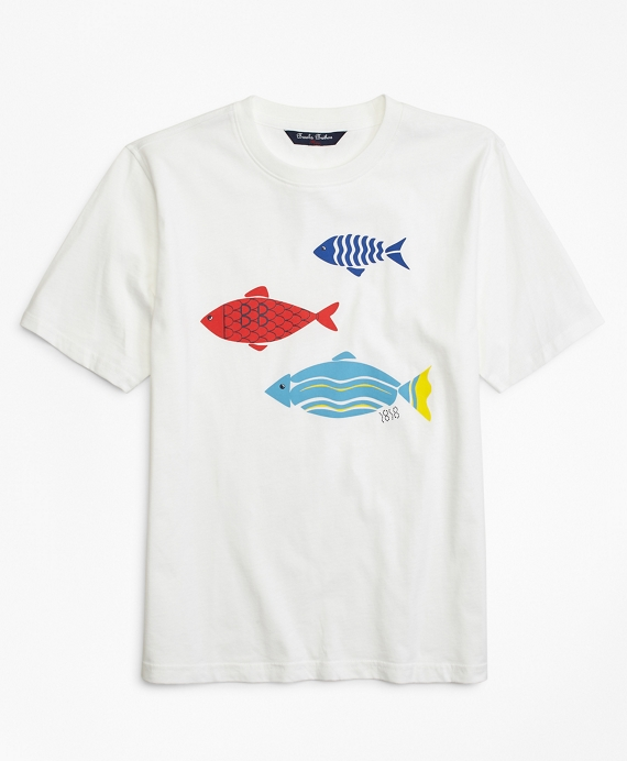 Fish Screen Print T-Shirt