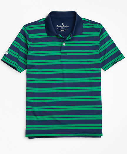 Performance Track Stripe Polo Shirt