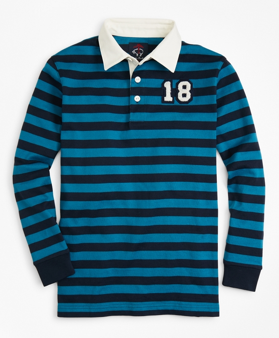 Striped Rugby Shirt Blue