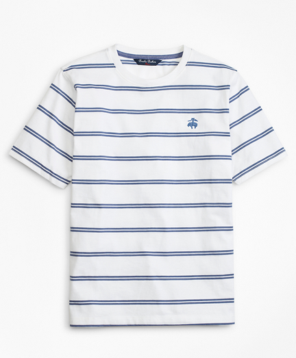 Cotton Short-Sleeve Stripe T-Shirt