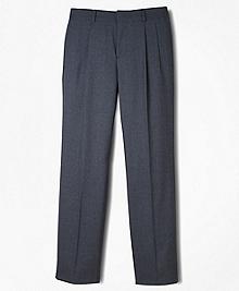 BrooksEase Junior Pleat-Front Dress Trousers