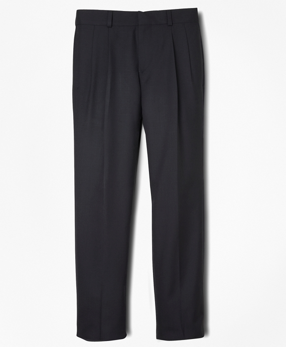 BrooksEase Junior Pleat-Front Dress Trousers Navy