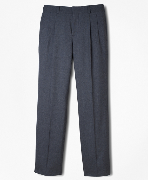 BrooksEase Prep Pleat-Front Dress Trousers Grey