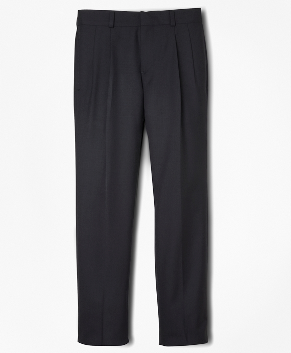 BrooksEase Prep Pleat-Front Dress Trousers Navy
