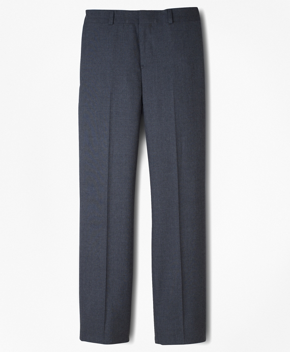 BrooksEase Junior Plain-Front Dress Trousers Grey