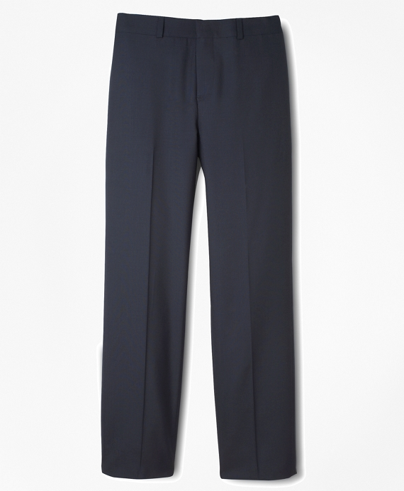 BrooksEase Prep Plain-Front Dress Trousers Navy