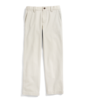 Plain-Front Washed Chinos