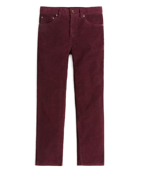 Garment Dyed 14-Wale Corduroy Pants Wine