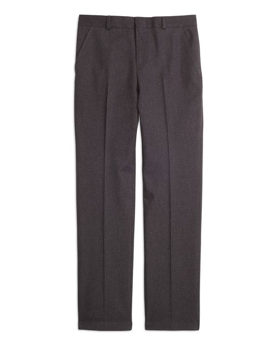 Houndstooth Suit Trousers Charcoal