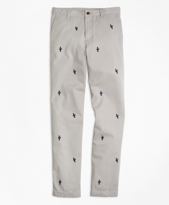 Embroidered Cotton Chinos