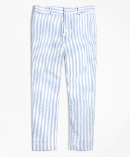 Seersucker Junior Suit Trousers