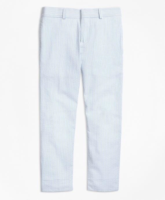 Seersucker Junior Suit Trousers