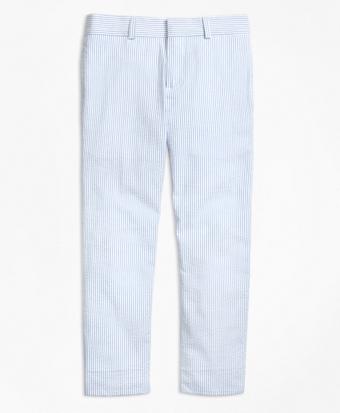 Seersucker Prep Suit Trousers