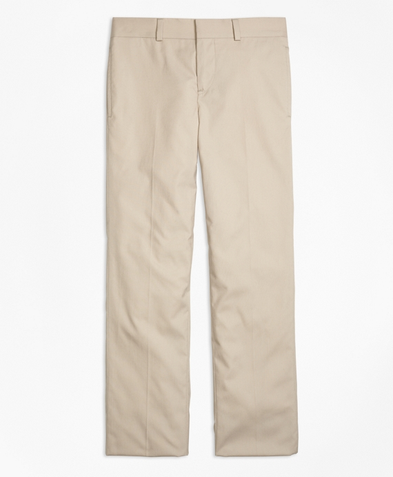 Cotton Poplin Junior Suit Trousers Khaki