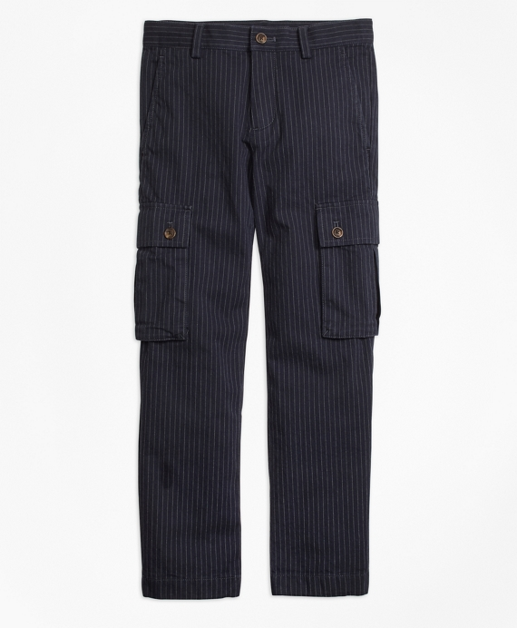 Pinstripe Cargo Pants Navy