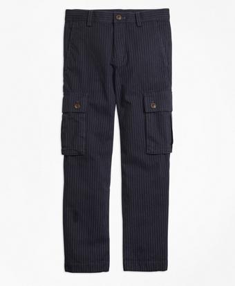 Pinstripe Cargo Pants