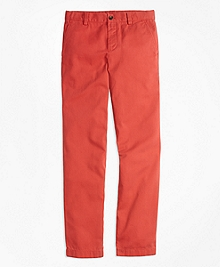 Washed Cotton Stretch Chinos