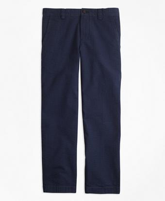 Washed Seersucker Pants
