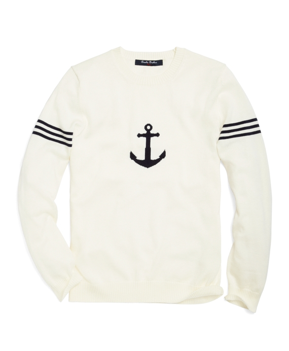 Anchor Intarsia Sweater Ivory