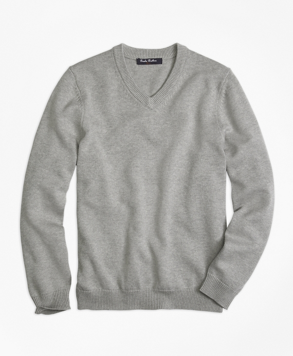 V-Neck Sweater Grey
