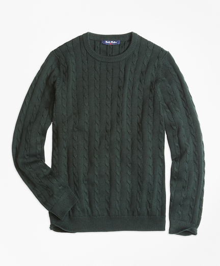 Crewneck Cable Sweater