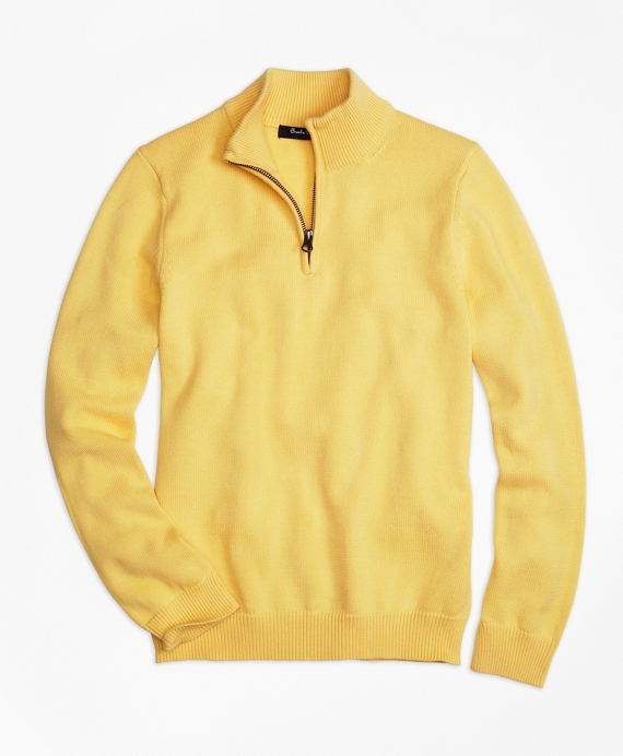Half-Zip Sweater Yellow