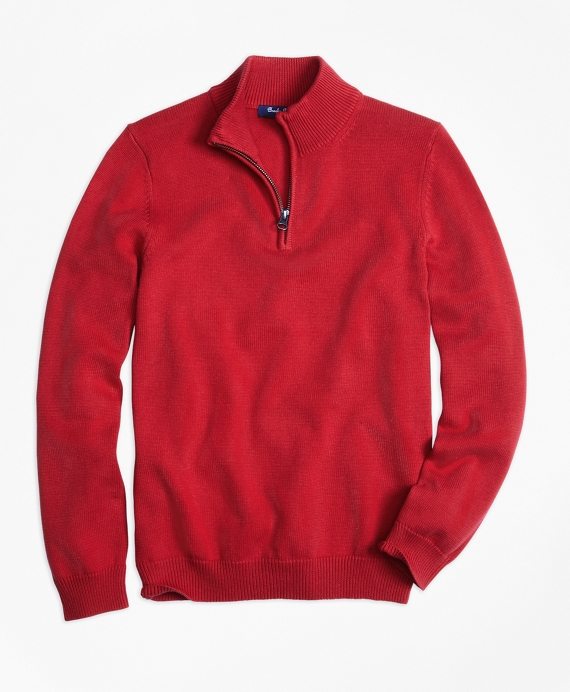 Boys' Red Half-Zip Sweater | Brooks Brothers
