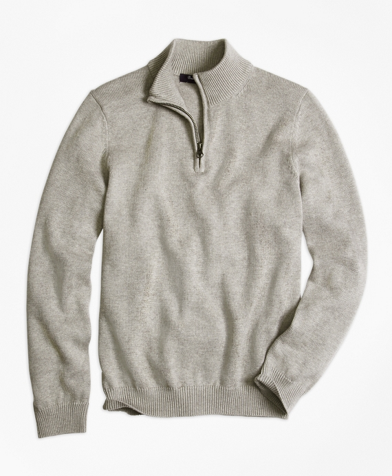 Half-Zip Sweater Grey