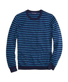 Micro Stripe Crewneck Sweater