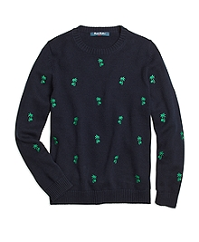 Palm Tree Embroidered Sweater