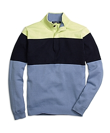 Supima® Cotton Color-Block Sweater