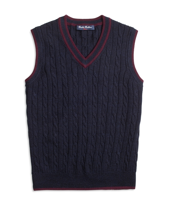 Merino Wool Cable Vest