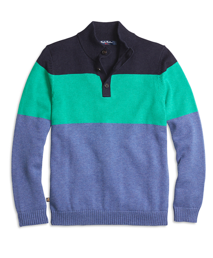 Color-Block Mockneck Sweater