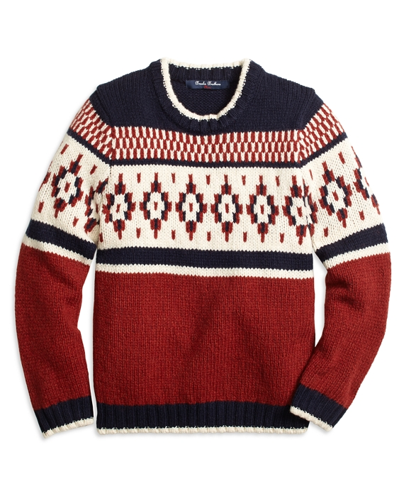 Wool Blend Fair Isle Sweater