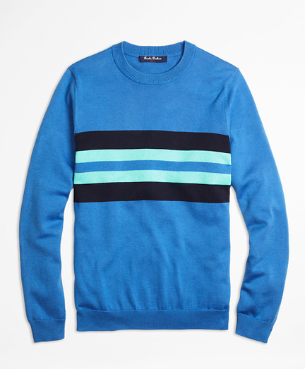 Supima® Cotton Chest Stripe Sweater