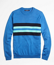 Supima® Cotton Chest Stripe Sweater