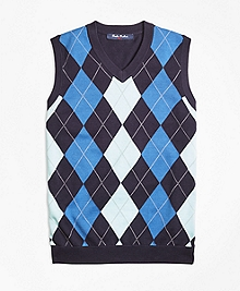 Cotton Argyle Sweater Vest