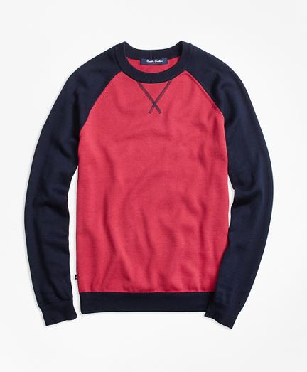 Supima® Cotton Baseball Sweater