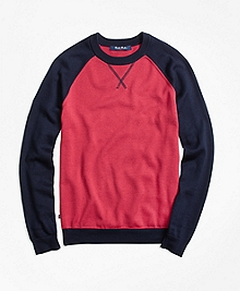 Supima® Cotton Baseball Sweater