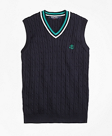 Supima® Cotton Cable Vest