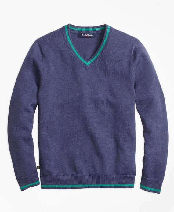 V-Neck Sweater Dark Blue