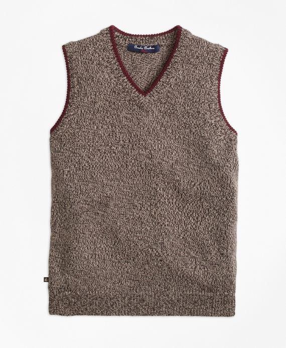 Merino Wool Sweater Vest Brown