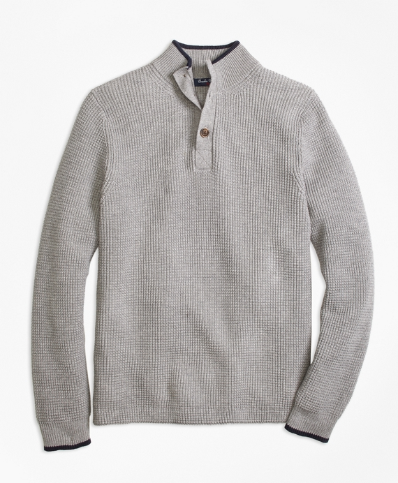 Supima® Mockneck Sweater Grey
