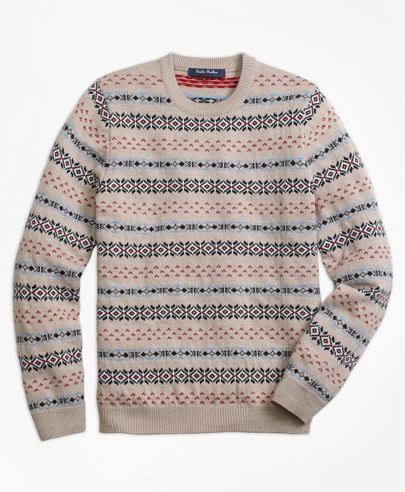 Merino Wool Multi Fair Isle Sweater - Brooks Brothers