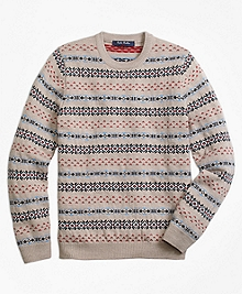 Merino Wool Multi Fair Isle Sweater