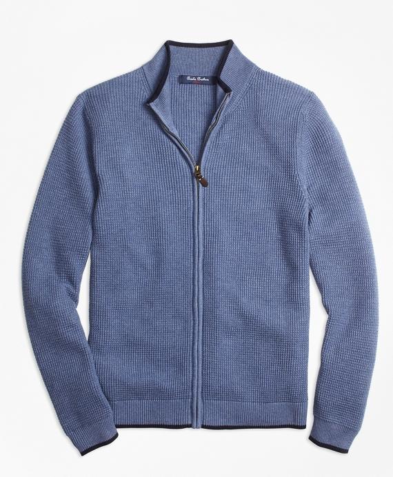 Supima® Cotton Full-Zip Sweater