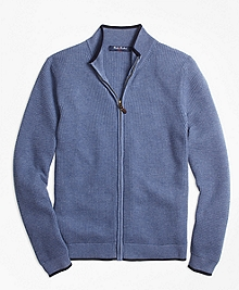 Supima® Cotton Full-Zip Sweater