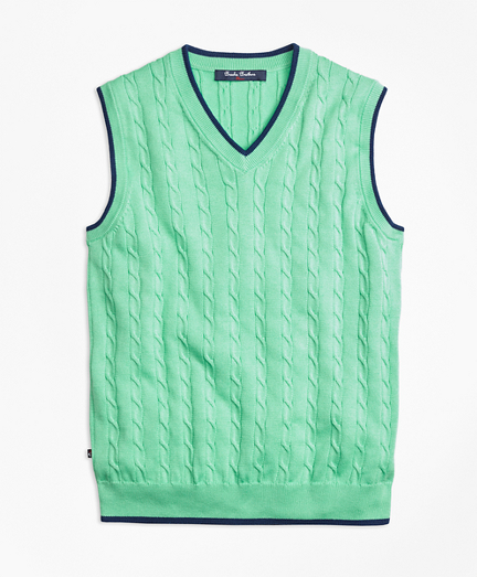 Supima® Cotton Cable Tipped Vest